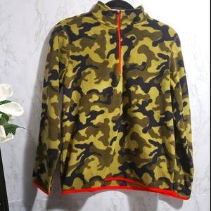 Fleece Camouflaged Pullover Boys Sweatshirt